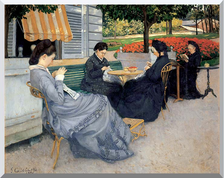 Gustave Caillebotte Portraits in the Countryside stretched canvas art print