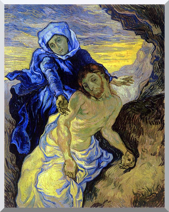 Vincent van Gogh Pieta stretched canvas art print