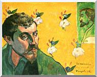 Paul Gauguin Self Portrait Dedicated To Vincent Van Gogh stretched canvas art