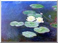 Claude Monet Nympheas Effet Du Soir Detail stretched canvas art