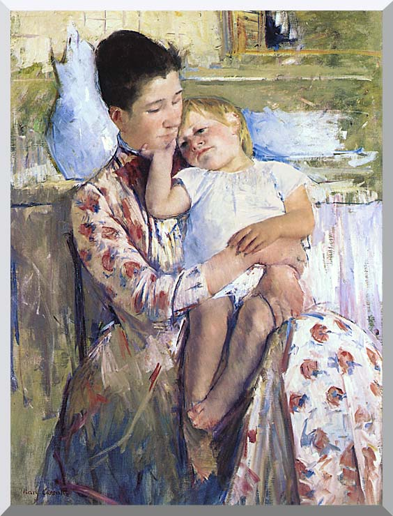 Mary Cassatt Mother and Child stretched canvas art print