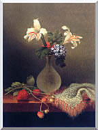 Martin Johnson Heade A Vase Of Corn Lilies And Heliotrope stretched canvas art