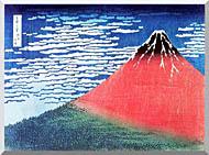 Katsushika Hokusai Mount Fuji In Clear Weather stretched canvas art