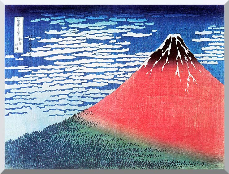 Katsushika Hokusai Mount Fuji in Clear Weather stretched canvas art print