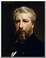 William Bouguereau Portrait Of The Artist William Bouguereau stretched canvas art
