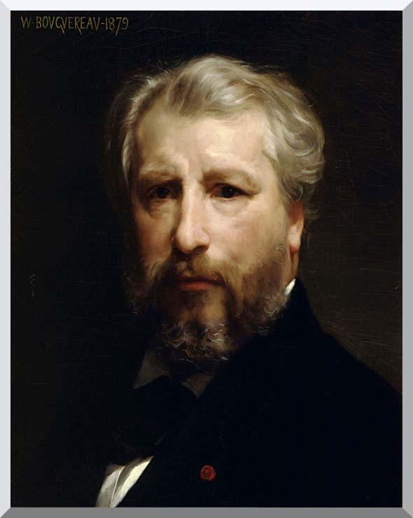 William Bouguereau Portrait of the Artist, William Bouguereau stretched canvas art print