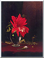 Martin Johnson Heade Red Flower In A Vase stretched canvas art