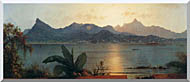 Martin Johnson Heade Sunset Harbor At Rio De Janeiro stretched canvas art