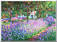 Claude Monet The Artists Garden At Giverny Detail stretched canvas art