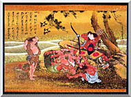 Katsushika Hokusai Tametomo And The Demons At Onigashima stretched canvas art