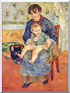 Pierre Auguste Renoir Mother And Child In A Chair stretched canvas art