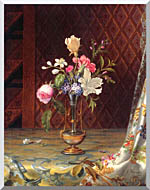 Martin Johnson Heade Vase Of Mixed Flowers stretched canvas art