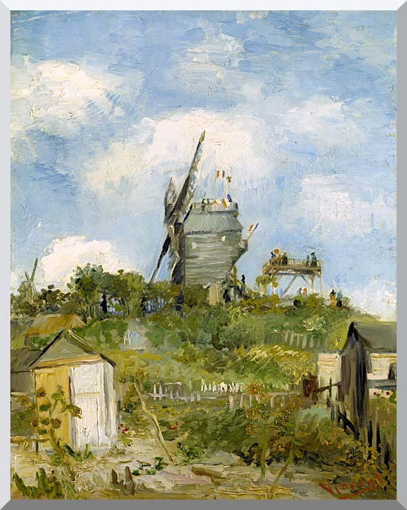 Vincent van Gogh Blute Fin Windmill Montmartre stretched canvas art print