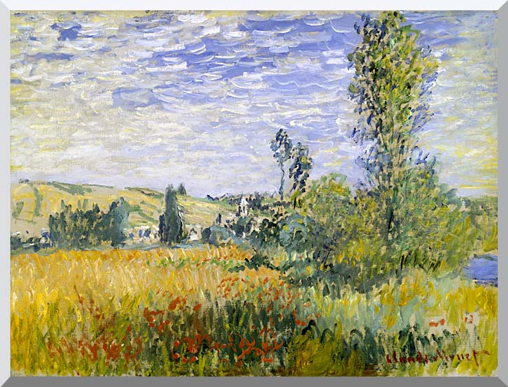 Claude Monet Vetheuil stretched canvas art print