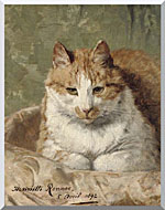 Henriette Ronner Knip Carefree Cat stretched canvas art