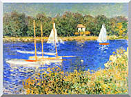 Claude Monet Sailboats At The Basin At Argenteuil stretched canvas art