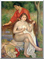 Pierre Auguste Renoir Bather And Maid stretched canvas art
