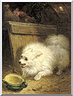 Henriette Ronner Knip In The Barn stretched canvas art