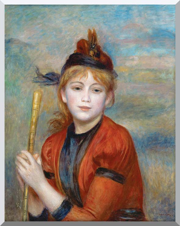 Pierre Auguste Renoir The Rambler stretched canvas art print