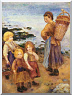 Pierre Auguste Renoir Mussel Fishers At Berneval stretched canvas art