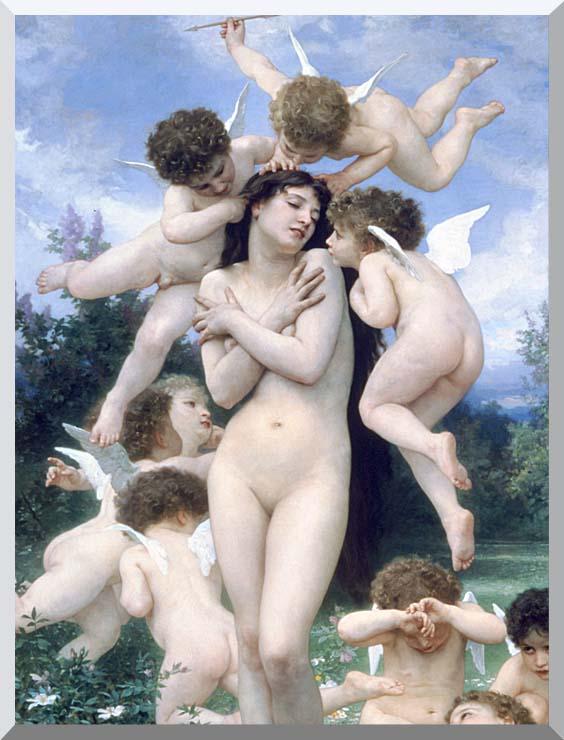 William Bouguereau Springtime (detail) stretched canvas art print