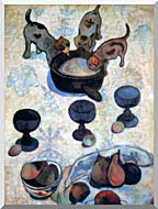 Paul Gauguin Still Life With Three Puppies Detail stretched canvas art