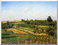 Camille Pissarro Harvest Landscape At Pontoise stretched canvas art