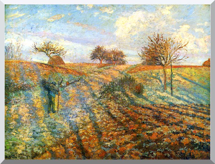 Camille Pissarro Hoarfrost stretched canvas art print