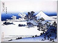 Katsushika Hokusai Fuji Seen From Shichirigahama Beach In The Sagami Province stretched canvas art