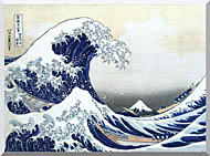 Katsushika Hokusai The Great Wave At Kanagawa stretched canvas art
