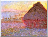 Claude Monet The Grainstack Sunset stretched canvas art