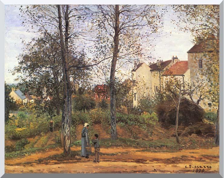 Camille Pissarro Landscape at Louveciennes stretched canvas art print