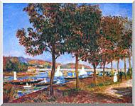 Pierre Auguste Renoir Bridge At Argenteuil stretched canvas art