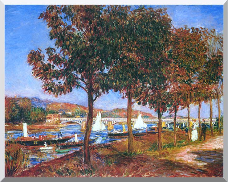 Pierre Auguste Renoir Bridge at Argenteuil stretched canvas art print