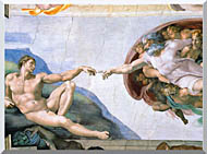 Michelangelo Buonarroti The Creation Of Adam stretched canvas art