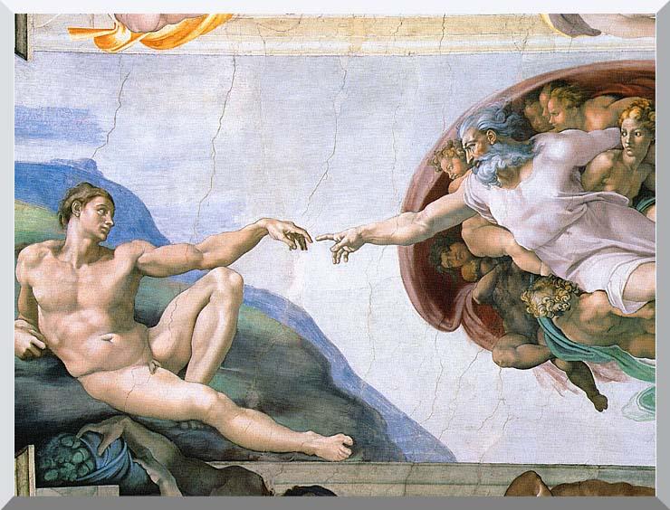 Michelangelo Buonarroti The Creation of Adam stretched canvas art print