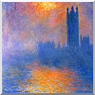 Claude Monet Houses Of Parliament Sun Shining Through A Gap In The Fog stretched canvas art