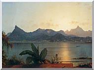 Martin Johnson Heade Sunset Harbor At Rio De Janeiro Detail stretched canvas art