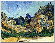 Vincent Van Gogh Mountains At Saint Remy stretched canvas art