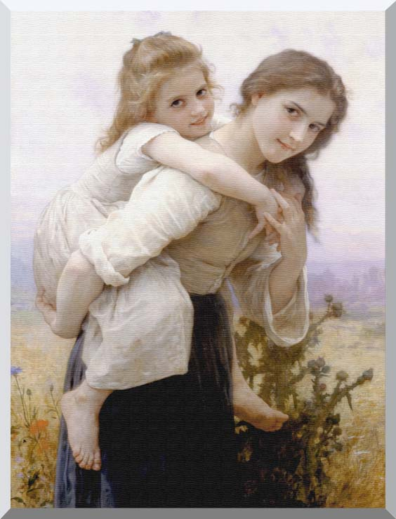 William Bouguereau Not Too Much to Carry stretched canvas art print