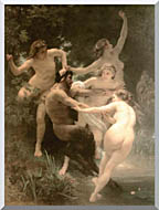 William Bouguereau Nymphs And Satyr stretched canvas art