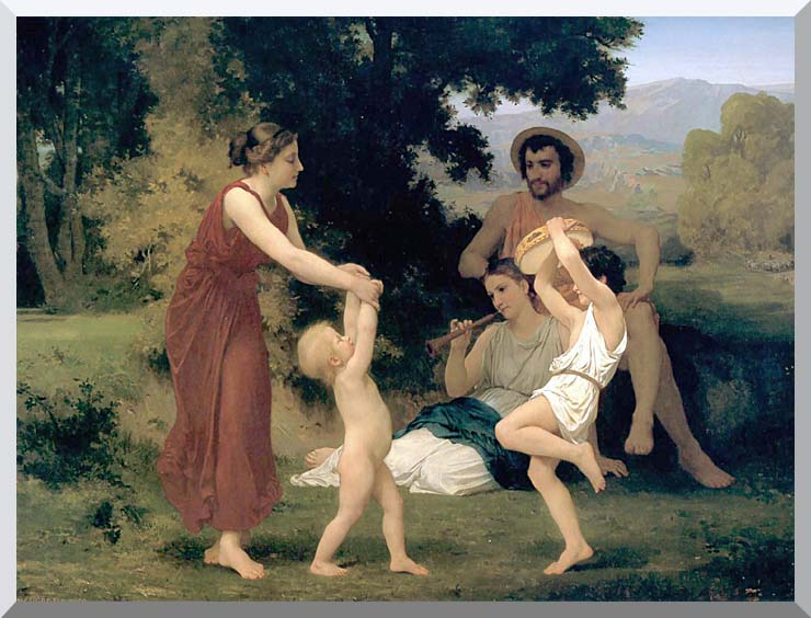 William Bouguereau Pastoral stretched canvas art print