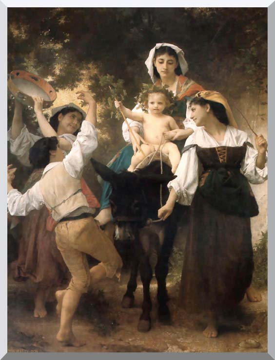 William Bouguereau Return from the Harvest stretched canvas art print