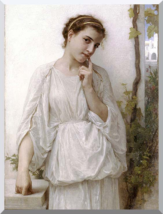 William Bouguereau Revery stretched canvas art print