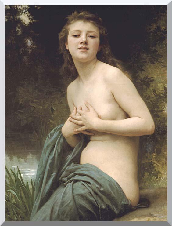 William Bouguereau Spring Breeze stretched canvas art print