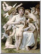 William Bouguereau The Assault stretched canvas art