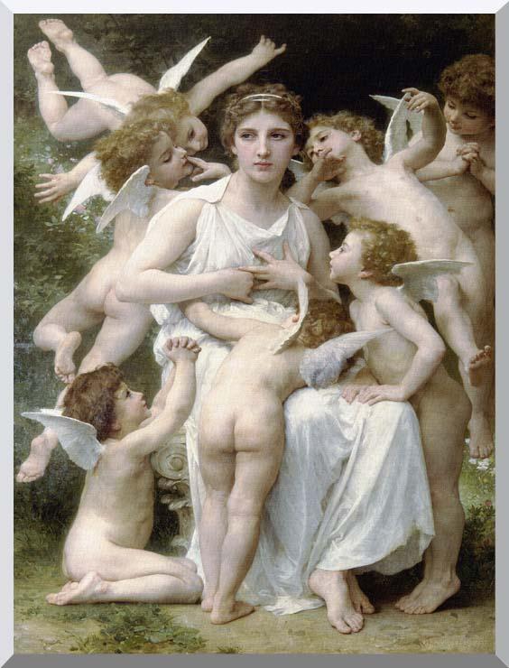 William Bouguereau The Assault stretched canvas art print