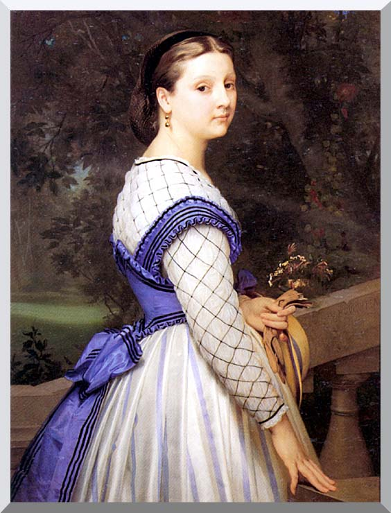 William Bouguereau The Countess de Montholon stretched canvas art print