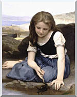 William Bouguereau The Crab stretched canvas art