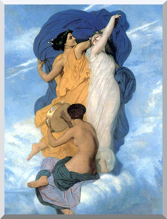 William Bouguereau The Dance stretched canvas art print